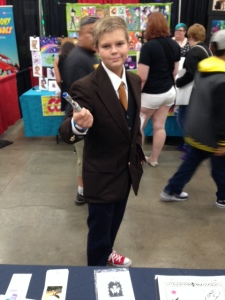 This dapper young fellow was one of many incarnations of the Doctor running around. But he was Ten so of course I had to take a picture.
