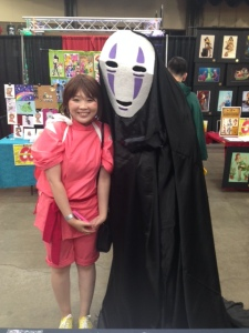"Spirited Away was a good movie so when I saw No Face wandering around... Also my older sister and I have this joke where we'll go up to each other and go ""uh...uh....uh"""