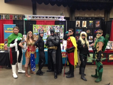There was an entire family cosplaying DC. They were just awesome so I had to stop them for a picture. (Black Canary is the best!!)